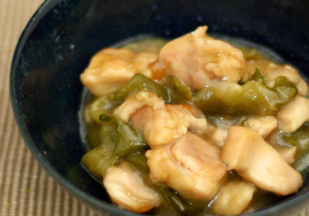 ホットクックで鶏もも肉とピーマンの炒め煮