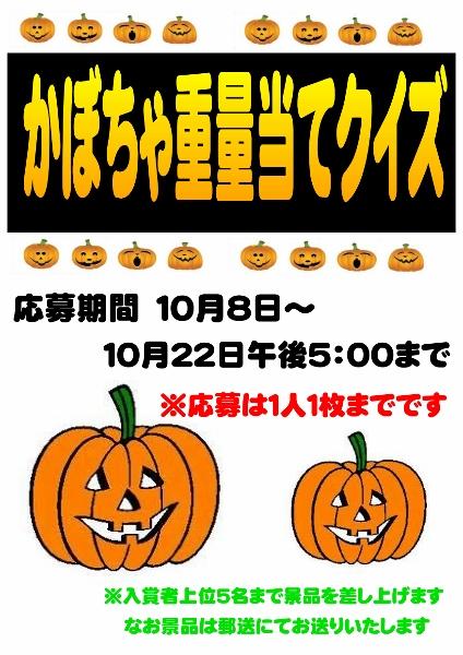 かぼちゃクイズ