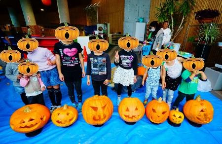 かぼちゃランタン作り02