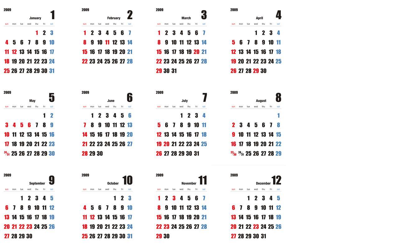 カレンダーです。デスクトップ ...
