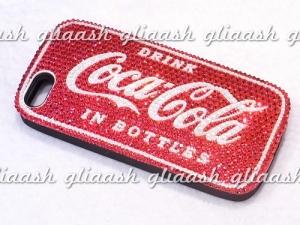 コカ・コーラのロゴデコiPhoneカバー