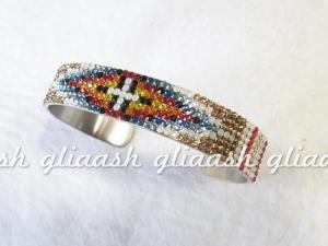 インディアンジュエリーナバホ族風デコバングル