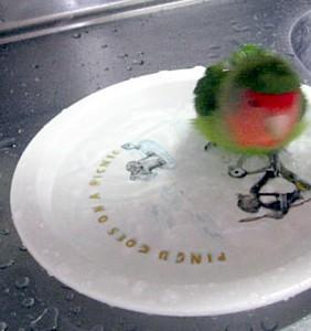 パピネン殿下の水浴び