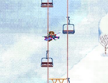 他のスキーヤーと接触!