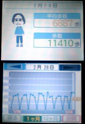 歩数グラフ