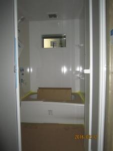青梅市理容店新築工事2階住居部浴室