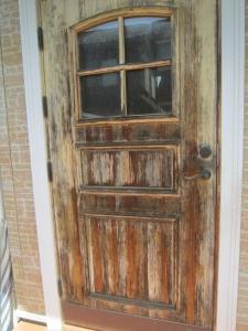 木製玄関ドアの劣化