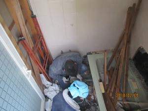 青梅市浴室解体の様子