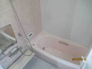 青梅市浴室UB設置完了