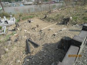 青梅市御岳墓地階段工事