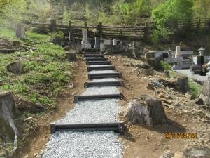 青梅市御岳墓地階段工事完成