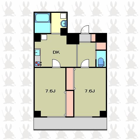 mia casa 2DK 間取り