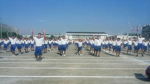 秋晴れの下、浦安市立9中学校運...