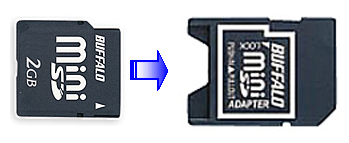 miniSD→SD変換