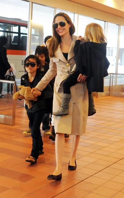 アンジェリーナ・ジョリー Angelina Jolie とブラッド・ピット Brad Pittの私服ファッション
