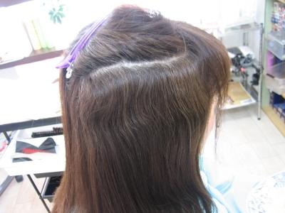 奈良市あやめ池 縮毛矯正 ヘアカラー毛