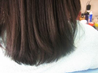 奈良 ビビリ直しの毛先