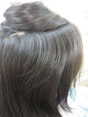 前髪のクセ毛