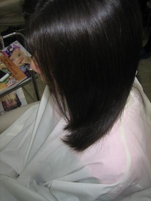 縮毛矯正した自然な髪