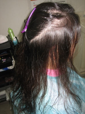 細い髪の縮毛矯正