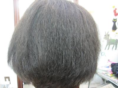 生駒市でヘナしている髪