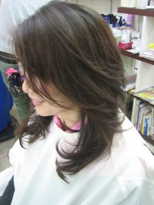 巻き髪パーマ