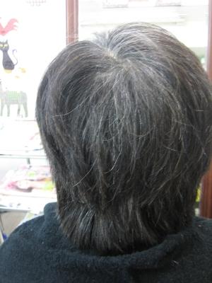 白髪染め前の画像