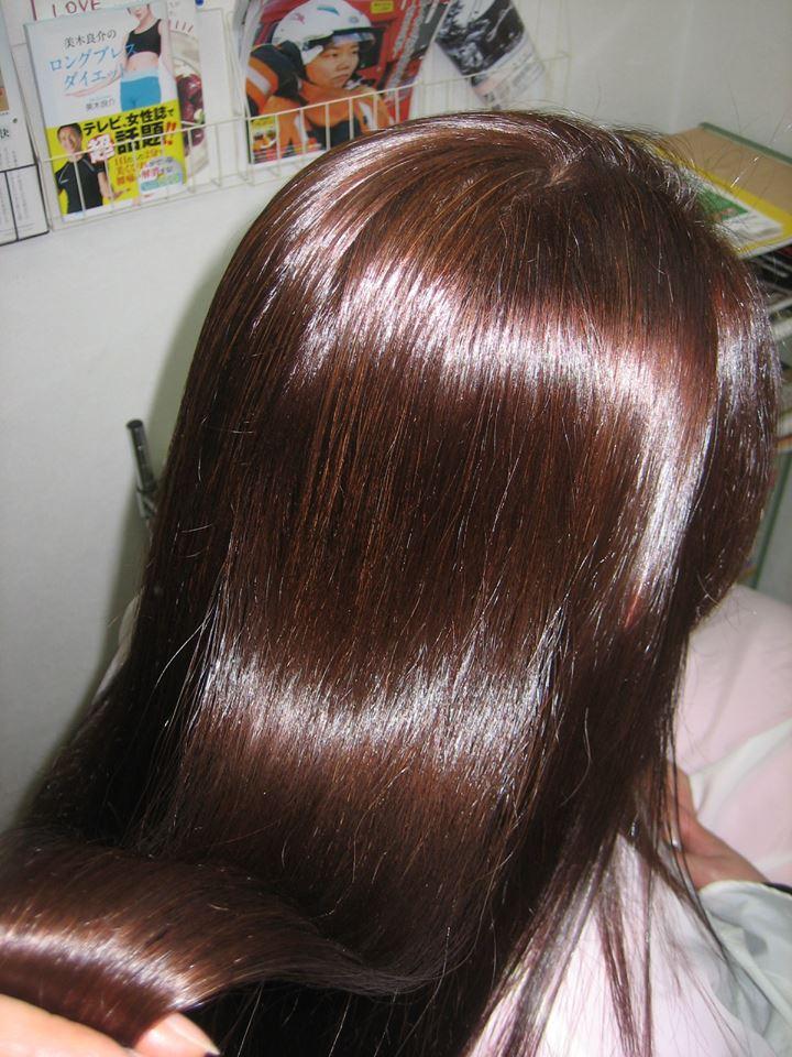 奈良県大和郡山市 縮毛矯正+白髪染め