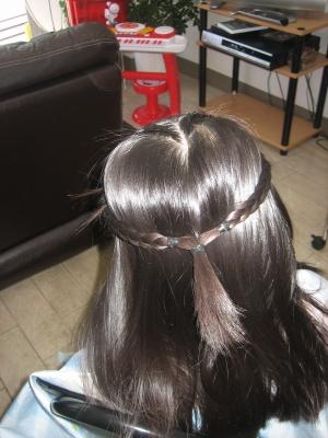 発表会のヘアスタイル 編み込み