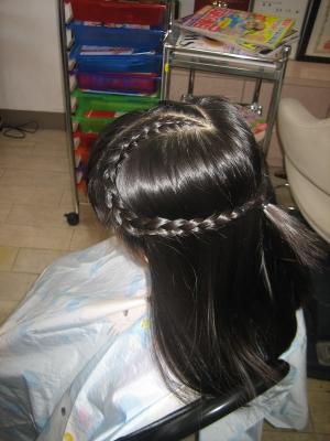 文化祭のヘアスタイル 編み込み