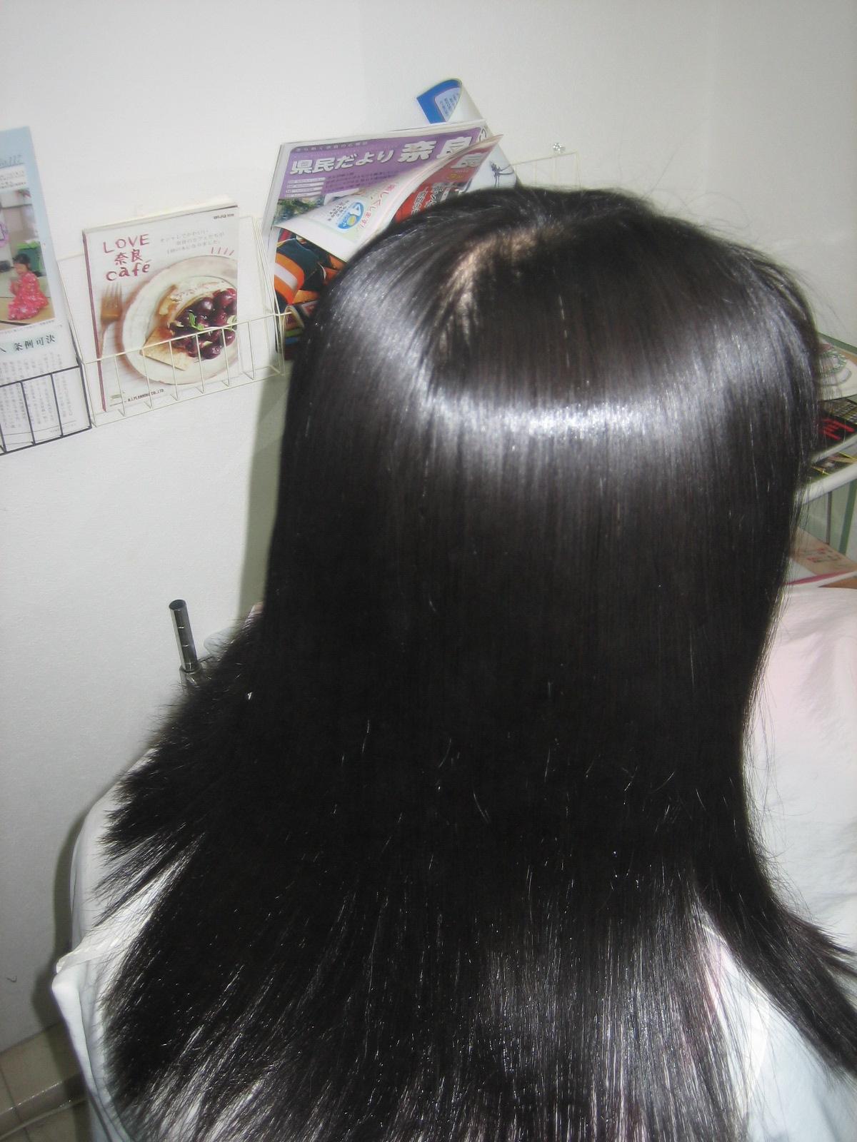 縮毛矯正 髪の艶 40代