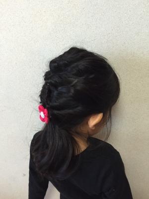 編み込み系男子 保育園に行くヘアスタイル