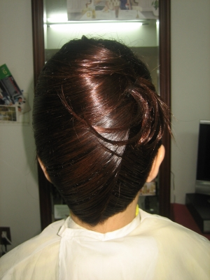 学園前 美容室 ヘアセット 着物の髪型