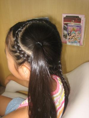 編みこみヘア 小学生 ヘアアレンジ 美容室