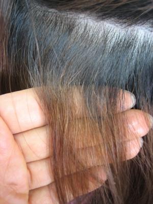 根元が明るくなりすぎた髪 ヘアカラーの失敗治し