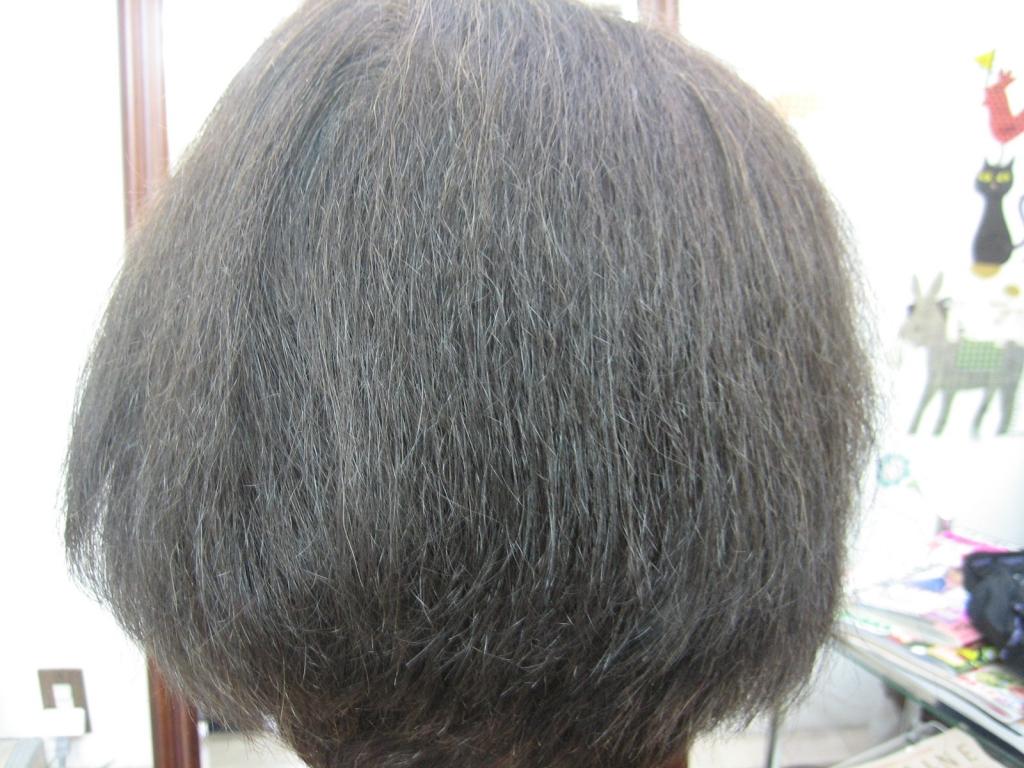 縮毛矯正の失敗例 チリチリ毛 ジリジリ毛