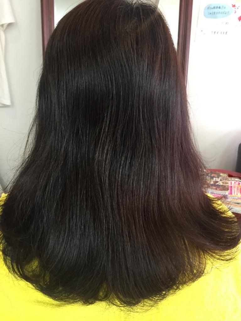 若々しい髪 艶のある40台の髪