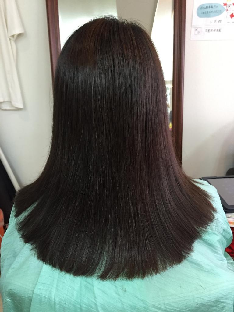 真っ直ぐになり過ぎない縮毛矯正 髪質改善 50代