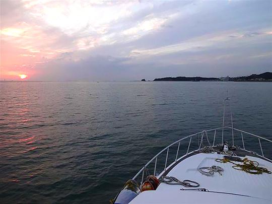 田辺湾の夕日