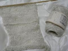 雑貨ナチュラルシリーズの麻100%試し編み