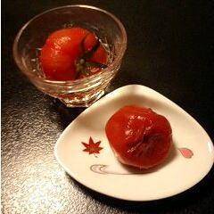 デザートのトマトと梅