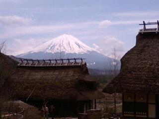 根場と富士山