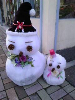 花屋の雪だるま