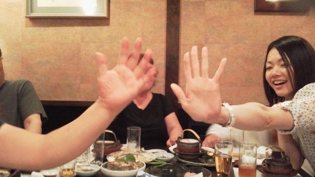 柳の様な指にビックリ