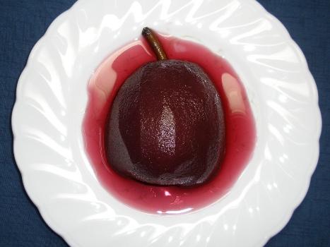ラ・フランスの赤ワイン煮.JPG