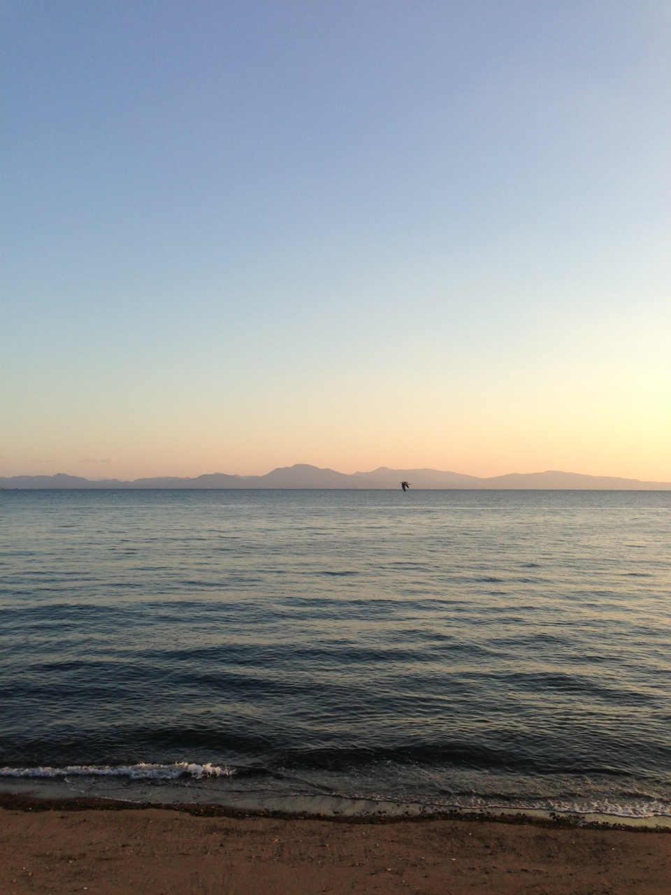 有明海と湯島、天草の夕暮れ