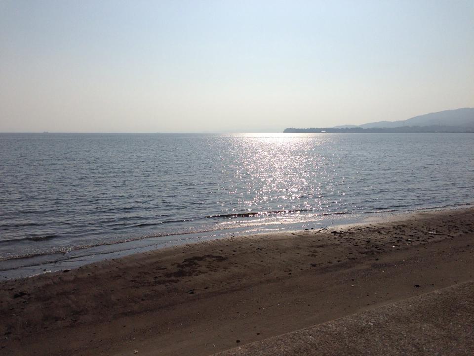 龍石海岸から望む有明海