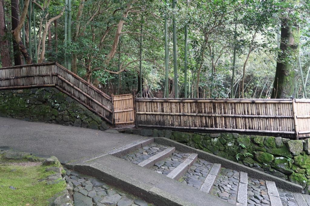 竹林と竹塀 kyoto