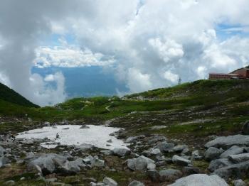 八丁坂から下山