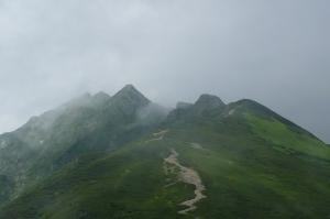 西穂丸山から西穂独標へ向かう稜線